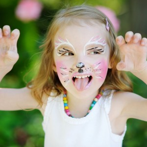 contact Us face painted girl